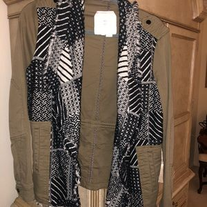 Anthropologie camo light weight jacket size S